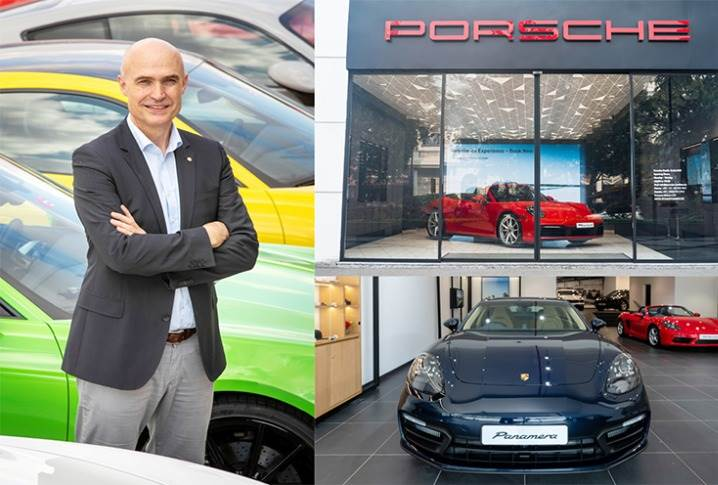 """Dr Manfred Braeunl: """"Our importers are continuing to further enhance the customer experience, such as India's first ever Porsche Studio in Delhi & a second facility opening for Porsche Centre Mumbai."""""""