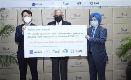 South Korea donates 100,000 masks to TVS Motor to battle Covid-19 in India