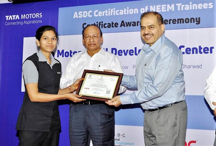 On January 30, 2018, Tata Motors and ASDC certified the first batch of trainees for skills in automotive assembly. The collaborative program was introduced in 2016 through an MoU .