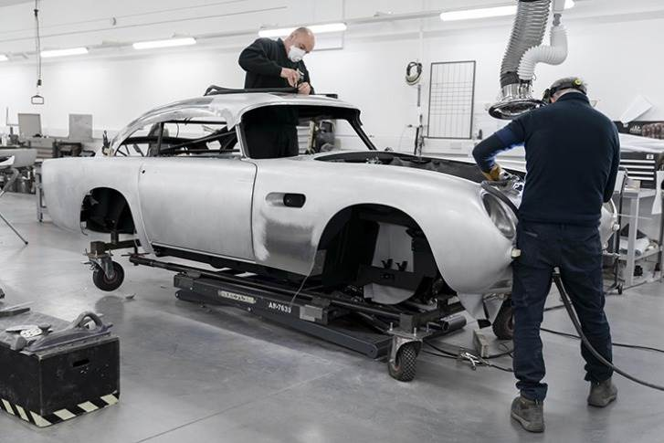 More than half a century after the last new DB5 left Aston Martin's Newport Pagnell factory in the UK, work is again under way on 'the most famous car in the world'