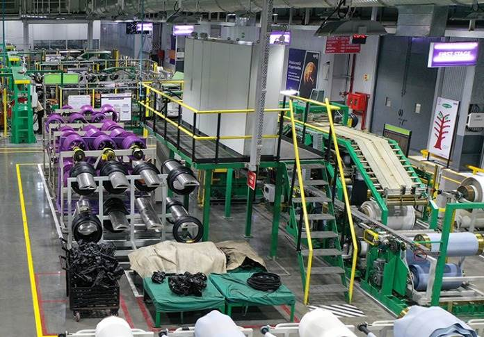 New two-wheeler tyre plant is housed within Apollo Tyres' Limda facility in Vadodara, and has an initial production capacity of 30,000 motorcycle radials and 60,000 cross-ply tyres a month.