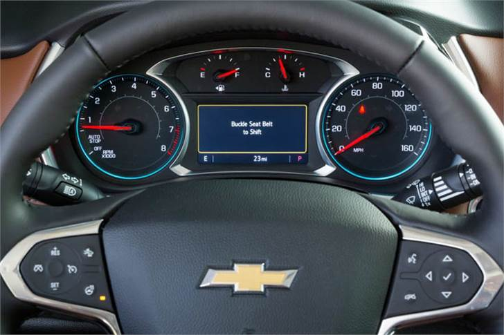 Buckle to Drive feature works when vehicle is in Teen Driver mode. If the vehicle is on and the driver's seatbelt is not buckled, the feature will not allow the driver to shift out of park for 20sec.