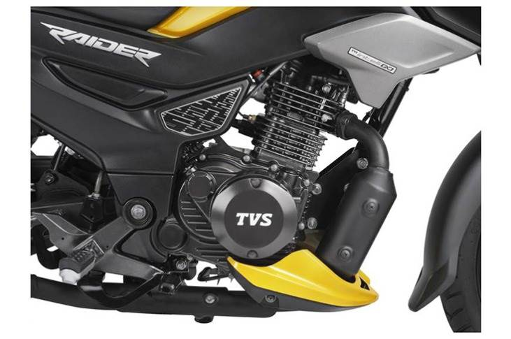 The Raider 125 is powered by a 124.8cc, three-valve, air-cooled engine which develops 11.4hp at 7500rpm and 11.2Nm of torque at 6000rpm.