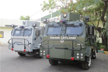 ​Ashok Leyland delivers light bulletproof vehicles to Indian Air Force