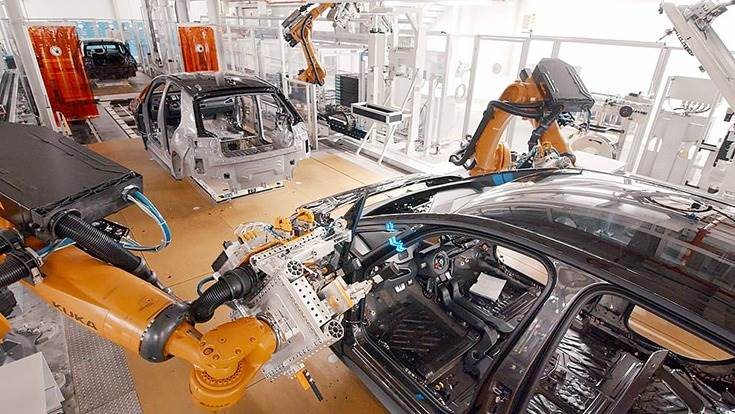 Durr and Volkswagen developed the automated tracking process where the car bodies are kept moving while the robots glue in the side windows.