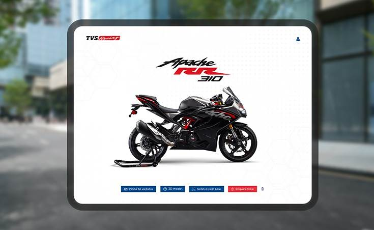 The TVS A.R.I.V.E app will make its foray with a module on the company's flagship models, TVS Apache RR 310 and TVS Apache RTR 200 4V.