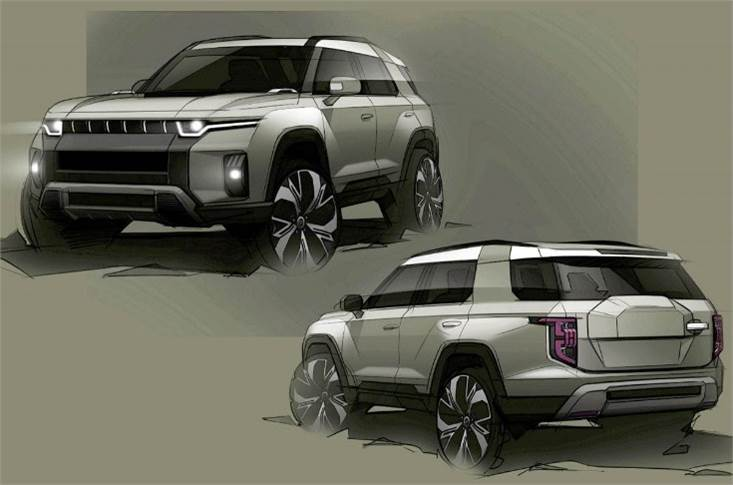 Project J100 SUV, announced in June, will be the brand's second battery electric vehicle and will go on sale globally by 2022.
