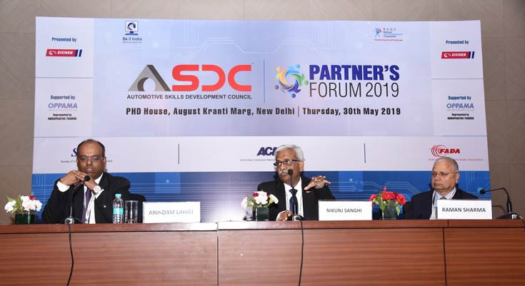 L-R: Arindam Lahiri, CEO, ASDC – India; Nikunj Sanghi, chairman, ASDC and Raman Sharma vice-president, Director of General Affairs and nominee director, Honda Cars India.