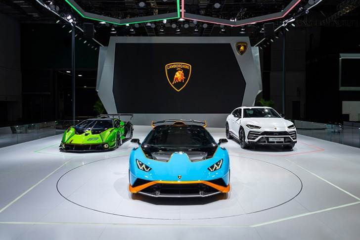 Lamborghini has revealed the track-only hyper car Essenza SCV12, street-legal Huracan STO and Huracán Fluo Capsule at China's biggest auto show.