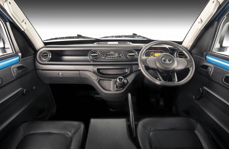 One of the highlights of the Tata Intra is its comfortable cabin.