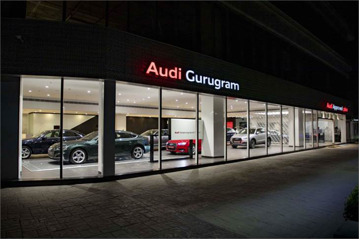 The new dealership, spread across 10,500 square feet, has a 21-car display including 14 Audi Approved: plus cars.