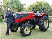 Raman Mittal, executive director of International Tractors, with the new Solis Hybrid 5015.