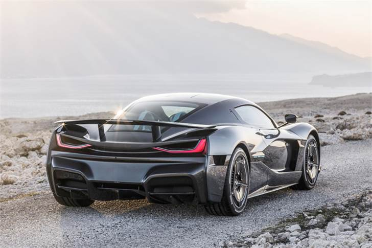 The Rimac C_Two hypercar.