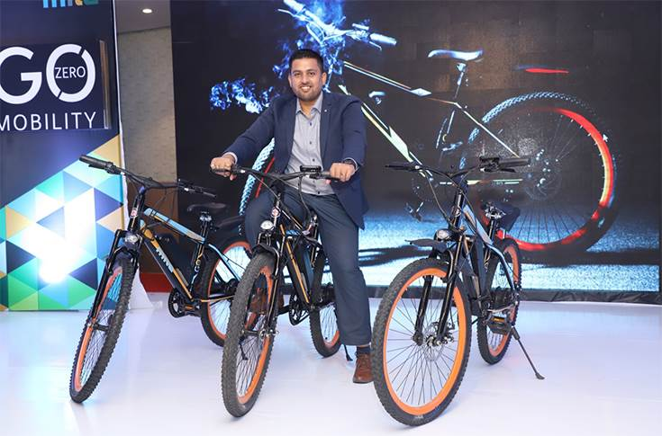 GoZero Mobility founder, Ankit kumar, at the launch of GoZero mobility