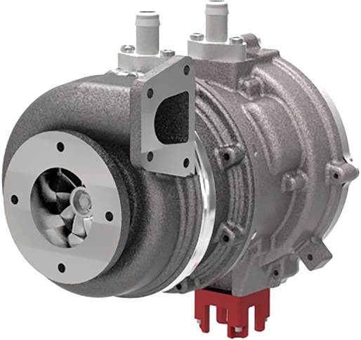 TIGERS integrates an exhaust-driven turbine with a liquid-cooled switched reluctance generator to harvest exhaust gas energy for storage as electrical energy.