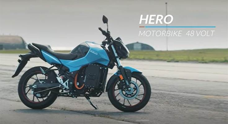 Saietta has incorporated its 48 volt, AFT 110 electric drivetrain in the 160cc Hero Xtreme.