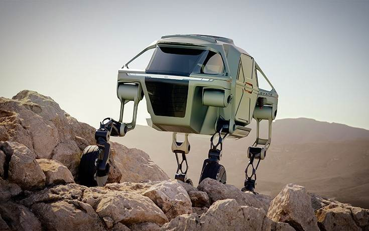 "New team is focused on the development of UMVs including the concept vehicle Hyundai Elevate, which makes use of four moveable legs to ""traverse terrain beyond the limitations of even the most capable off-road vehicle"""