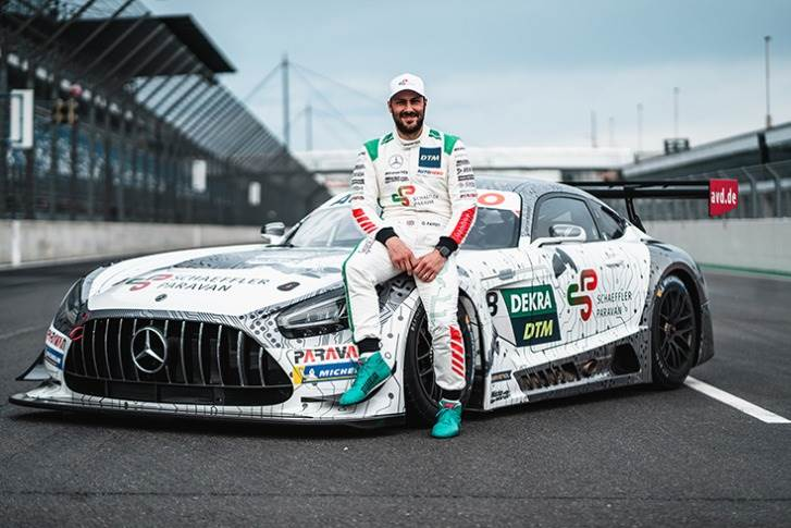 Gary Paffett with his Mercedes-AMG fitted with Space Drive.