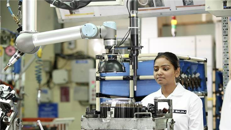 Bajaj Auto, the first Indian OEM to use cobots, uses them to perform tasks such as deburring, decal applications, vision applications, machine tending, welding, sealant applications and bolt tightening
