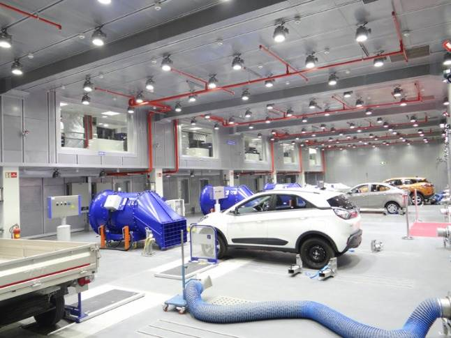Test facility equipped to meet the development, calibration and type approval requirement for light and heavy-duty powertrains. It is also capable of testing - range, power, drivability and durability of electric vehicles.