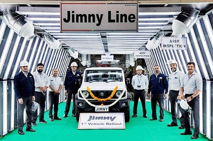 The Jimny manufactured at Maruti Suzuki's Gurugram plant shares the same specification as the export models produced at Suzuki Motor Corporation's Kosai plant in Japan.