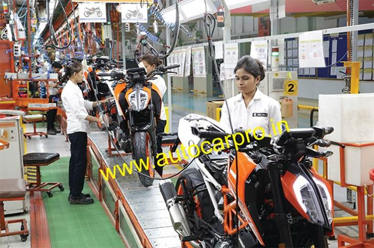 Bajaj Auto's premium motorcycle segment comprising KTM, Husqvarna and Dominar is notching sales of nearly 12,000 units each month but losing production due to supply chain problems in the form of shortage of semiconductors and ABS parts.