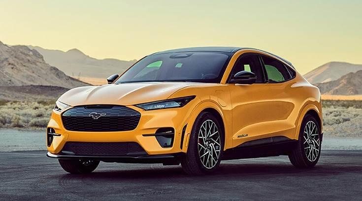 The 2021 Ford Mustang Mach-E emits zero C02 while driving and has a 100% vegan interior.