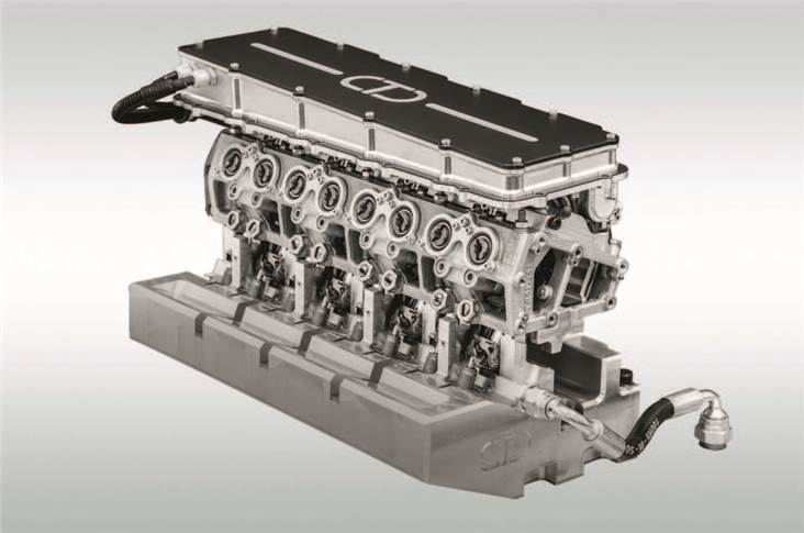 Four-cylinder iVT cylinder head gives complete individual control of both inlet and exhaust valves.