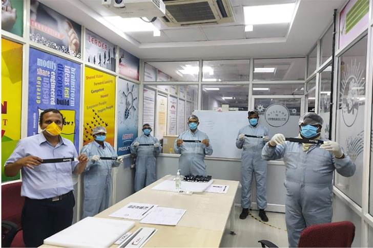 On April 12, the Nagpur plant joined other Mahindra plants in assembly operation of coronavirus-fighting face shields. (Pics: Sachin Tare/Twitter)