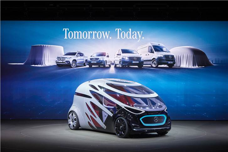 Mercedes-Benz Vans is planning a new range of autonomous vehicles, based on an all-electric chassis. Depending on the configuration, the new van will either move people or transport goods.