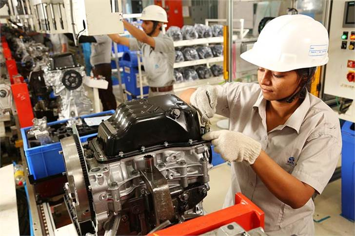 The Sanand plant also produces the Revotron 1.2L petrol, Revotorq 1.05L diesel and 1.2 NGTC petrol engines.