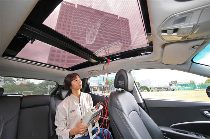 A semi-transparent version will allow solar charging on combustion engined vehicles