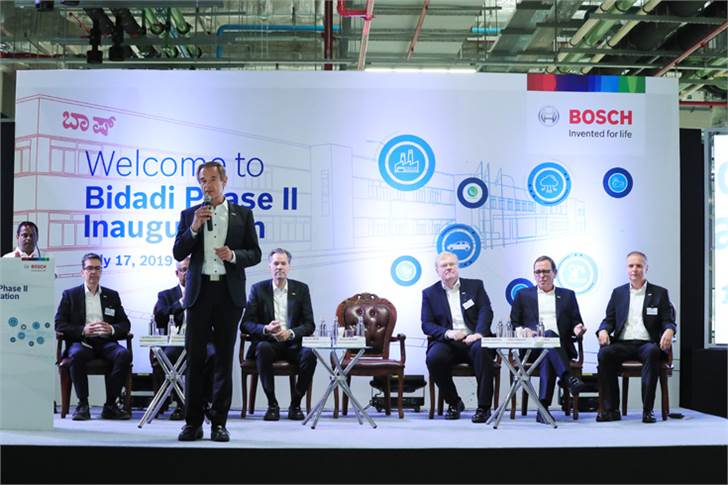 "Dr Volkmar Denner: ""The new Bidadi plant will further boost India's strong role in the Bosch Group's global network."""