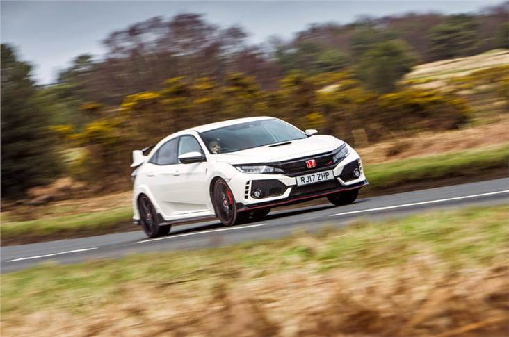 The Civic Type R hot hatch is one of a few models in Honda's limited UK line-up