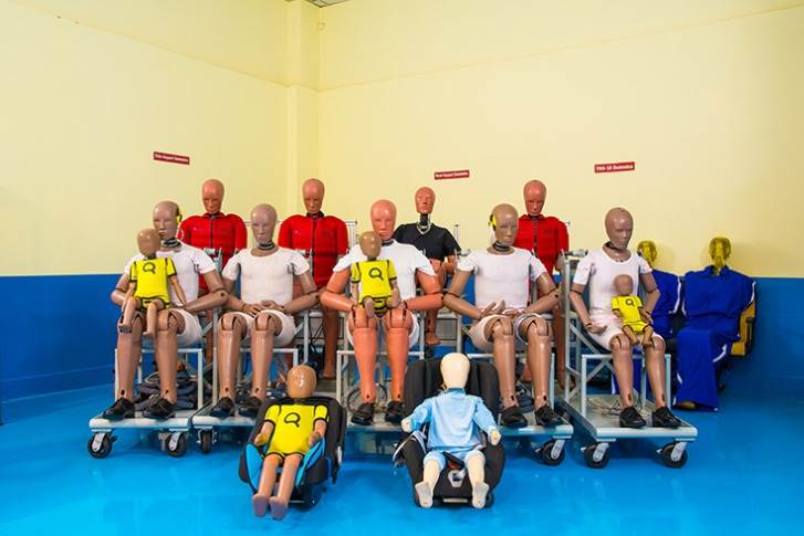 Dummies equipped with an array of sensors help record crucial data for post-crash analysis.