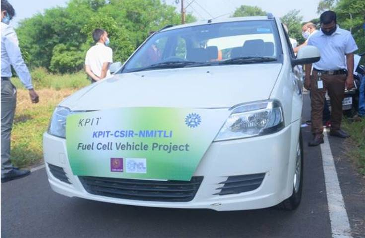 CSIR and KPIT have successfully run trialson a battery-electric passenger car platform retrofitted with the indigenously developed fuel cell stack.
