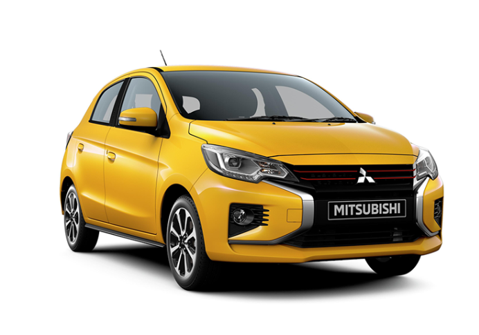 The facelifted Mirage hatchback now has an optimised lamp layout that makes the front look wider; The Mirage, which is sold as the Space Star in some European and Asian markets, has till now cumulatively sold 650,000 units worldwide.