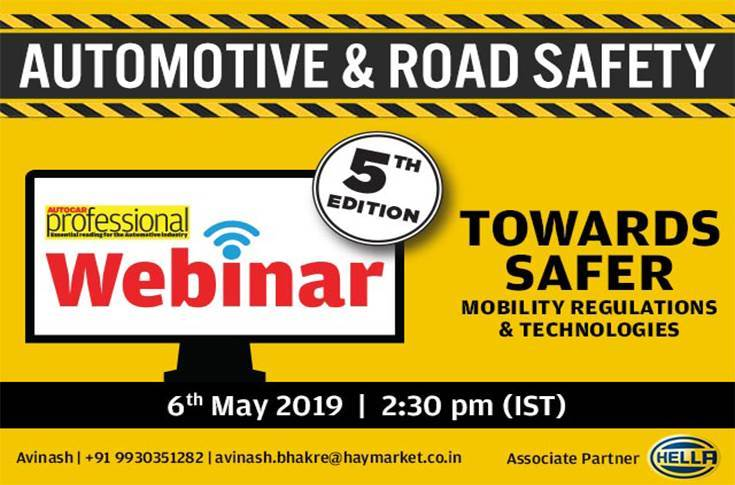 Autocar Professional will host its fifth Safety Webinar on May 6, which kicks off the fifth UN Global Road Safety Week. Registrations are open.