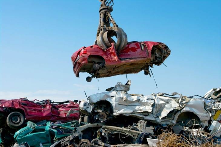 Vehicle scrappage is the start of the metal-morphosis process as different parts get segragated and recycled, returning to the automotive world in a reborn and clean avatar.
