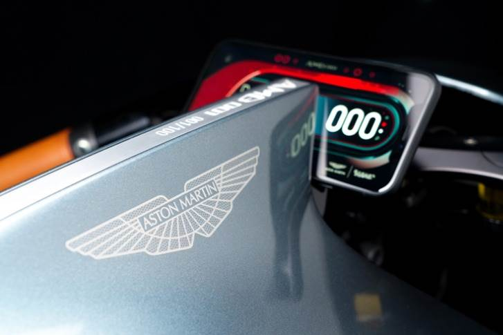 Aston Martin wings go on a motorcycle for the first time.