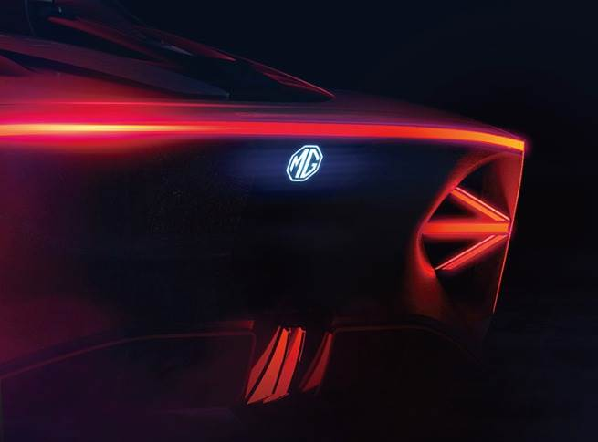 There is generous use of LEDs in the MG Cyberster including in the through-type tail-lamps.