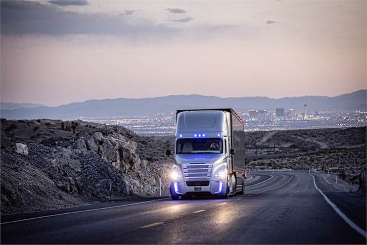 Pictures In 2015, the Freightliner Inspiration Truck got the first road license ever for an automated commercial vehicle.