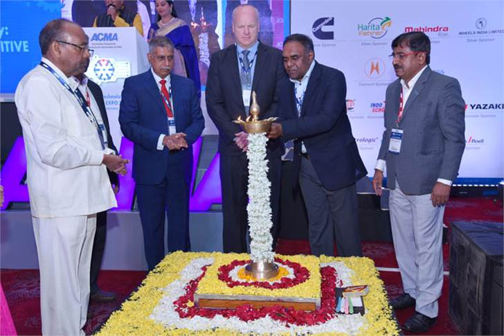 The traditional lamp-lighting ceremony to open the fourth edition of the ACMA Technology Summit, held on January 29-30 in Pune.
