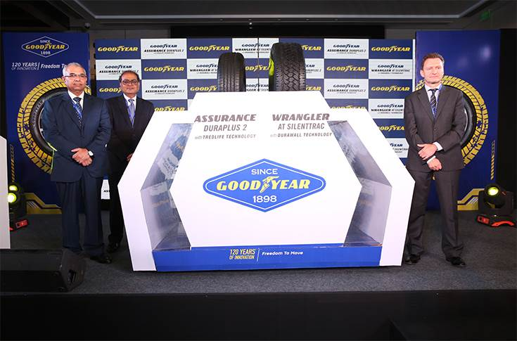 Goodyear tyre launch