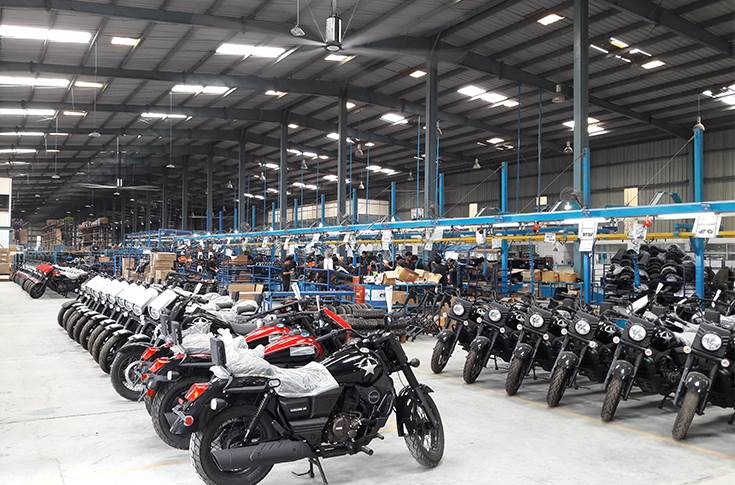 UM Motorcycles in Lohia Auto's Kashipur plant in India