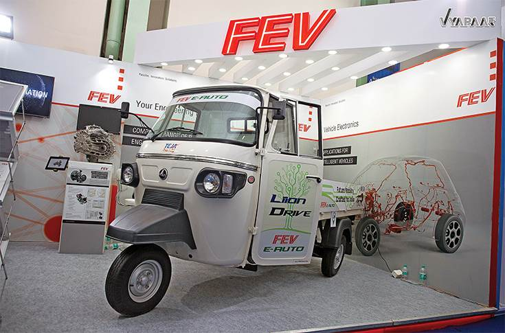 FEV India recently showcased an electric three-wheeler