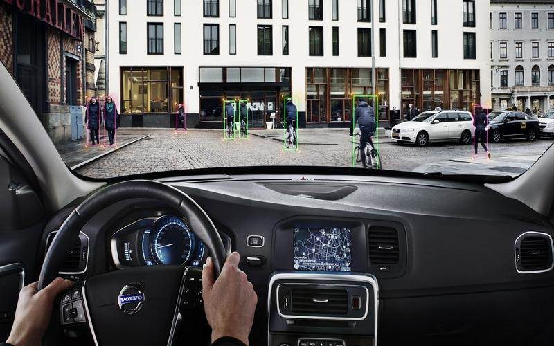 Cyclist detection in Volvo