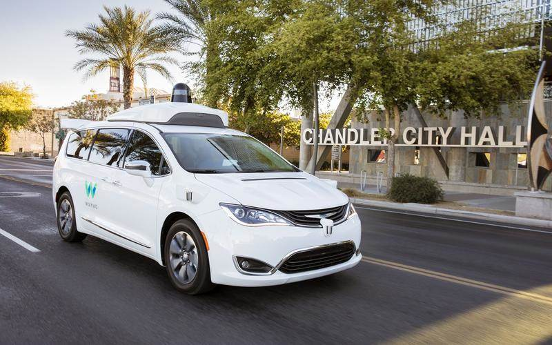 Chrysler Pacifica used by Waymo