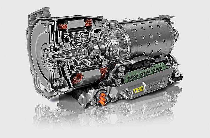 8-speed hybrid transmission from ZF