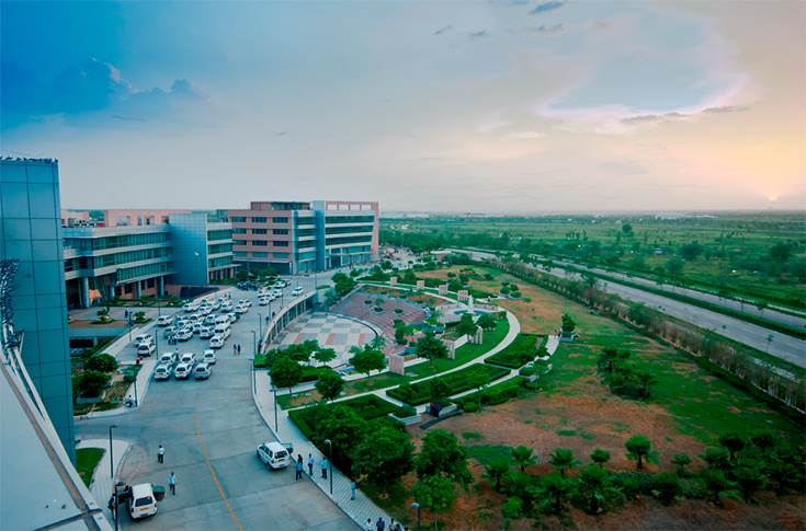 Aerial View of Amphitheater at eVolve - The GenNxt IT Park in IT SEZat MWC Jaipur